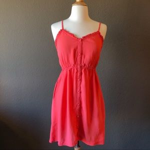 Forever 21 Pink Summer Mini Dress with Pockets